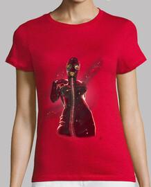 Gasmask in fire, camiseta de chica de manga corta.