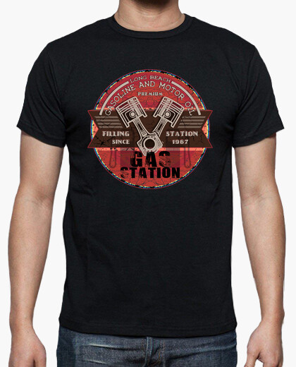 Gasoline and engine oil t-shirt