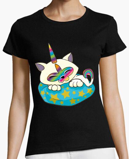 Camiseta Gaticornio en Cojin Estrellado