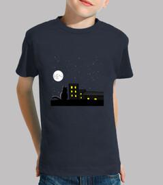Gatito a la luz de la luna