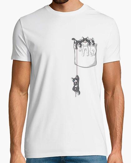 Camiseta gatito de bolsillo