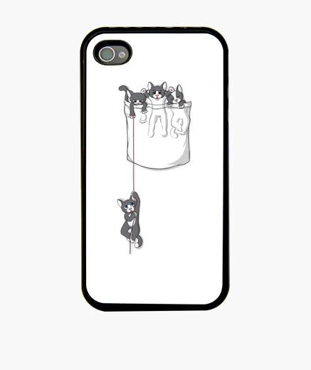 Funda iPhone gatito de bolsillo