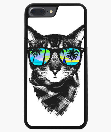 Funda iPhone 7 Plus / 8 Plus gatito de tiempo de verano