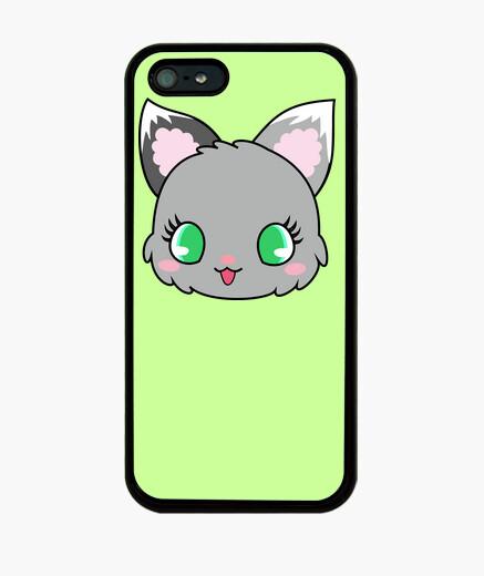 Funda iPhone gatito gris