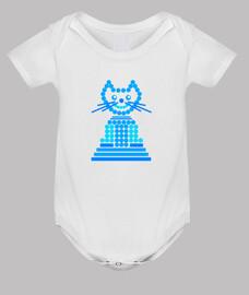 gato abstracto azul