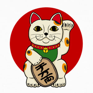 Camisetas gato afortunado