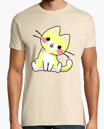 Camiseta Gato Amarillo Corazón