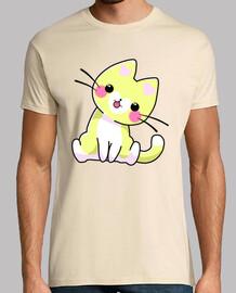 Gato Amarillo Corazón