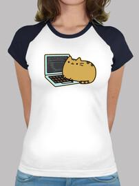 Gato Android Developer camiseta chicas