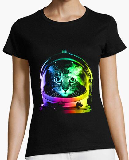 Camiseta gato astronauta