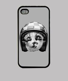 gato biker - gris