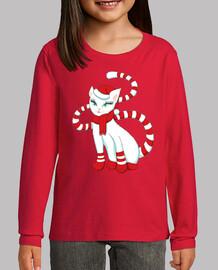 gato blanco en el estado de ánimo de na