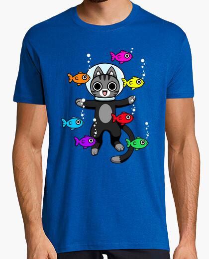 Camiseta Gato buceando