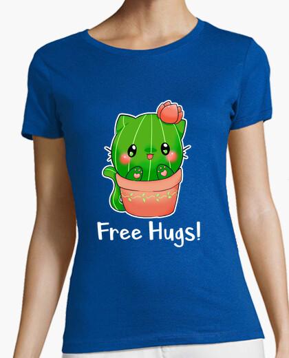 Camiseta Gato cactus Fre Hugs
