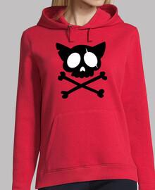 Gato Calavera - Sudadera chica