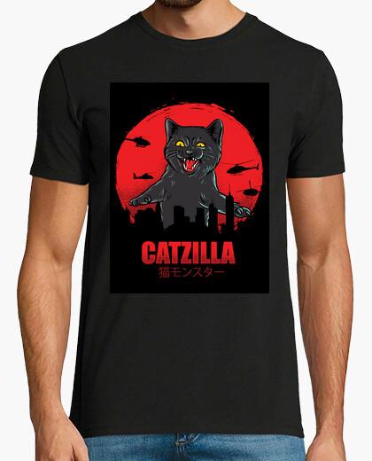 Camiseta gato catzilla
