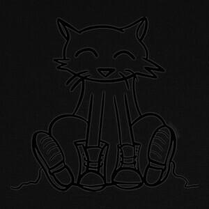 Camisetas Gato con botas sentado