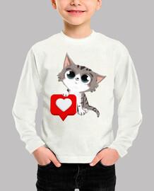 gato con corazon