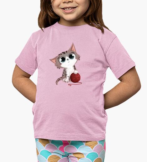Ropa infantil gato con ovillo de lana