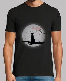 Gato contemplando la luna