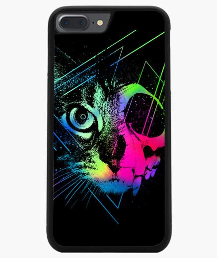 Funda iPhone 7 Plus / 8 Plus gato de cara de calavera geométrica