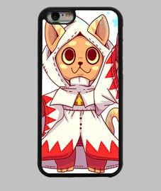 gato de fantasía mago blanco - caja del teléfono
