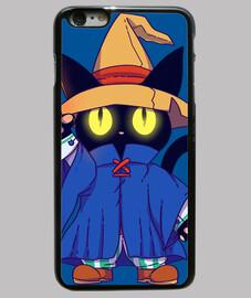 gato de fantasía negro mago - caja del teléfono