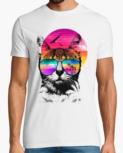 Camiseta gato de verano