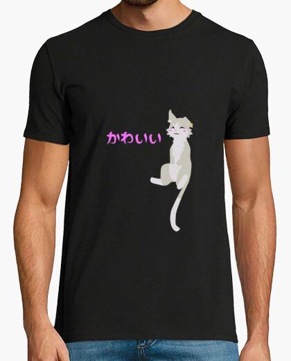 Camiseta gato del kawaii