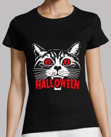 Gato diabólico. Fiesta de Halloween
