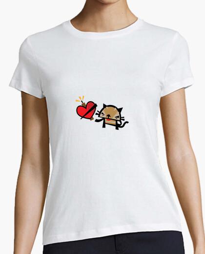 Camiseta Gato enamorado