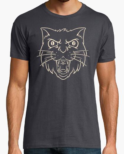 Camiseta gato enojado