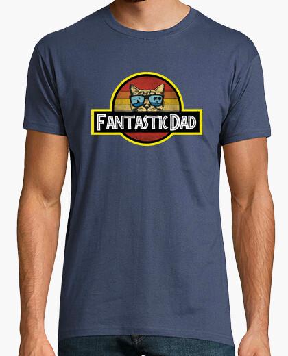 Camiseta gato fantástico papá