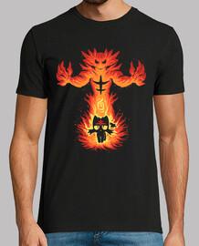 gato fuego interior - camisa para hombre