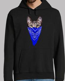 gato gángster (pañuelo azul)