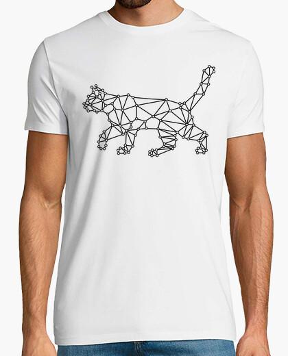 Camiseta Gato geometrico