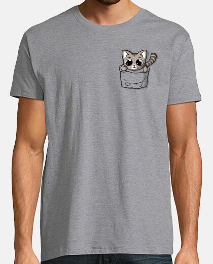 gato gris lindo del bolsillo