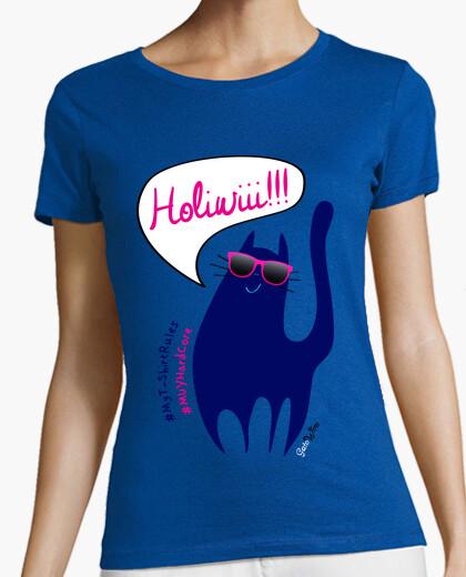Camiseta Gato Holiwiii