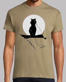 Gato Hombre, manga corta, gato luna