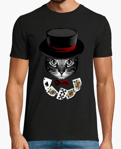 Camiseta gato ilusionista