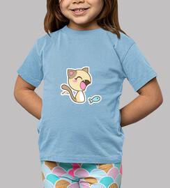 Gato kawaii - Camiseta niña