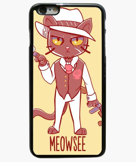 Funda iPhone 6 Plus / 6S Plus gato mafia meowsee - caja del teléfono
