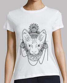 Gato Mandala, camiseta mujer