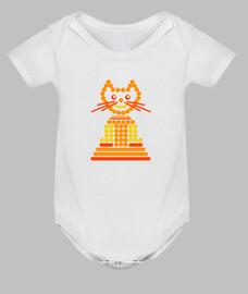 gato naranja abstracto