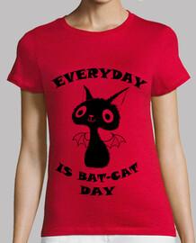 Gato negro - Camiseta chica