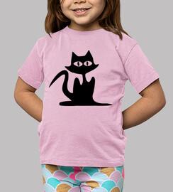 gato negro de halloween