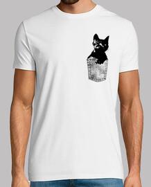 Gato negro en bolsillo