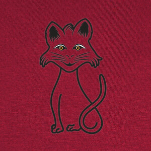 Camisetas gato negro estilizado