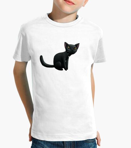 Ropa infantil gato negro niño t