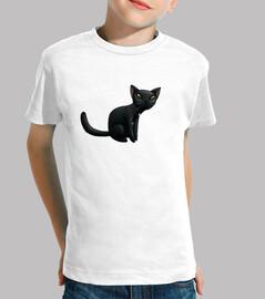 gato negro niño t